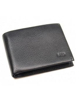 Чёрный кожаный зажим-портмоне MD Leather MD 555-10А