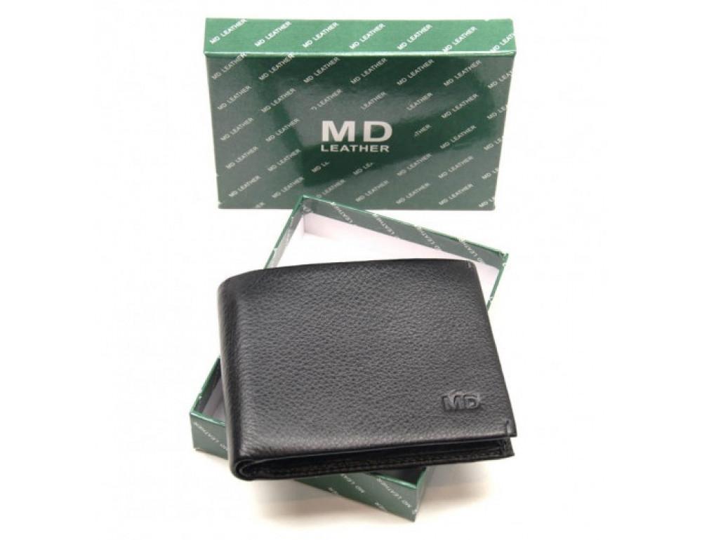 Чёрный кожаный зажим-портмоне MD Leather MD 555-10А - Фото № 5