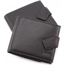 Чорний чоловічий гаманець на засувці MD Leather MD 122-A