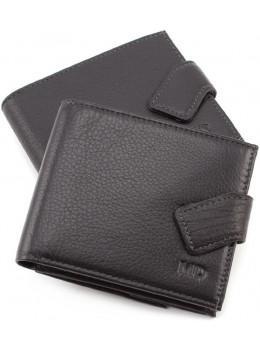 Чёрный мужской кошелёк на защелке MD Leather MD 122-A