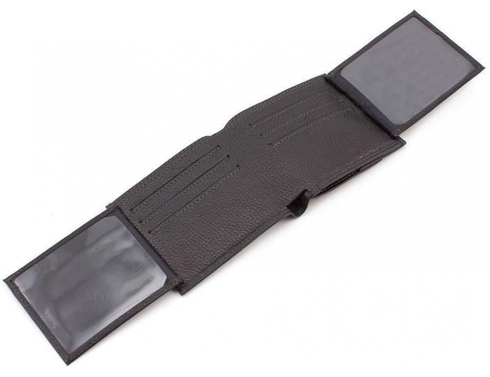 Чёрный мужской кошелёк на защелке MD Leather MD 122-A - Фото № 3