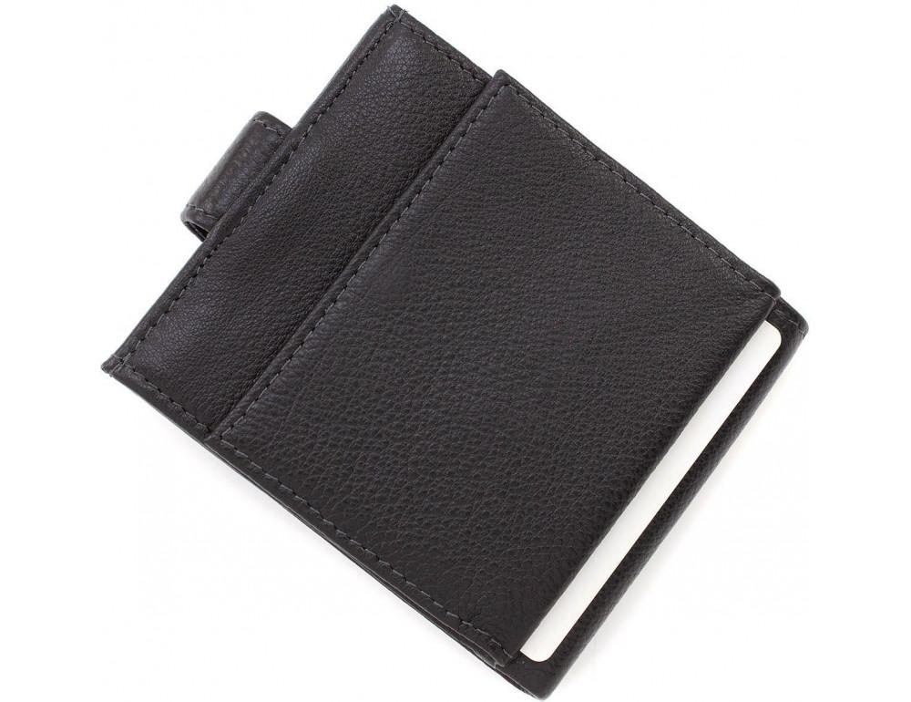 Чёрный мужской кошелёк на защелке MD Leather MD 122-A - Фото № 5