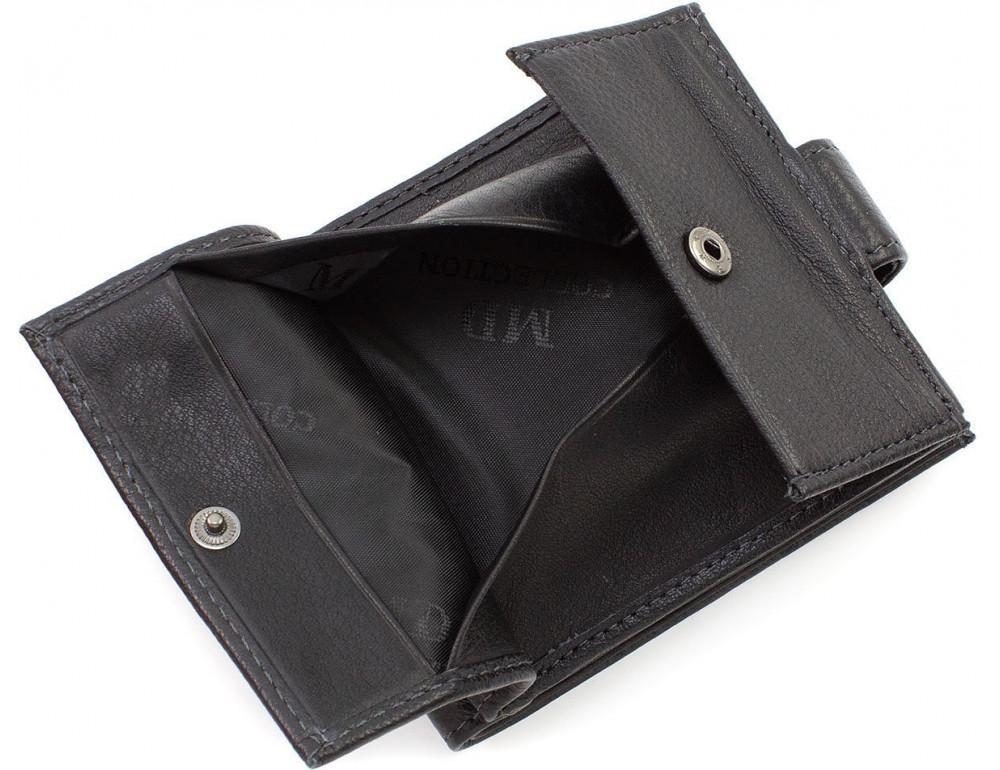 Чёрный мужской кошелёк на защелке MD Leather MD 122-A - Фото № 6