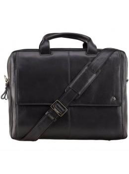Чорний шкіряний портфель для чоловіків Visconti ML24 BLK