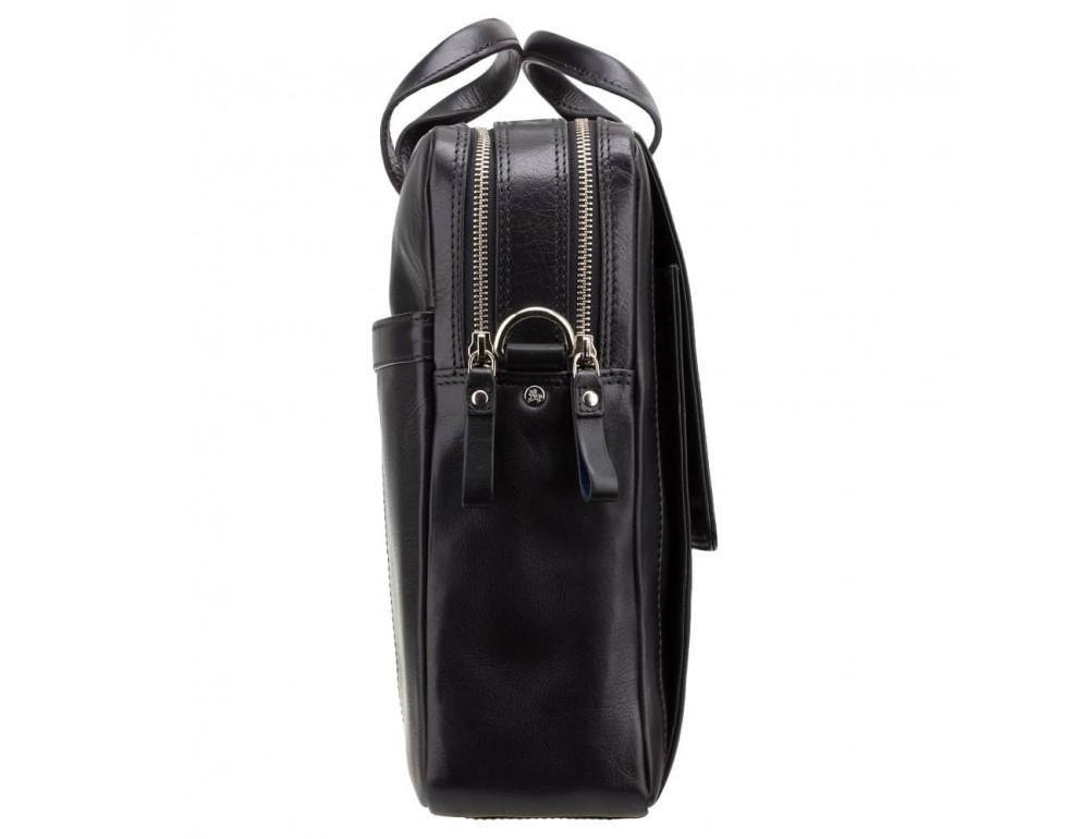 Чёрный кожаный портфель для мужчин Visconti ML24 BLK - Фото № 4