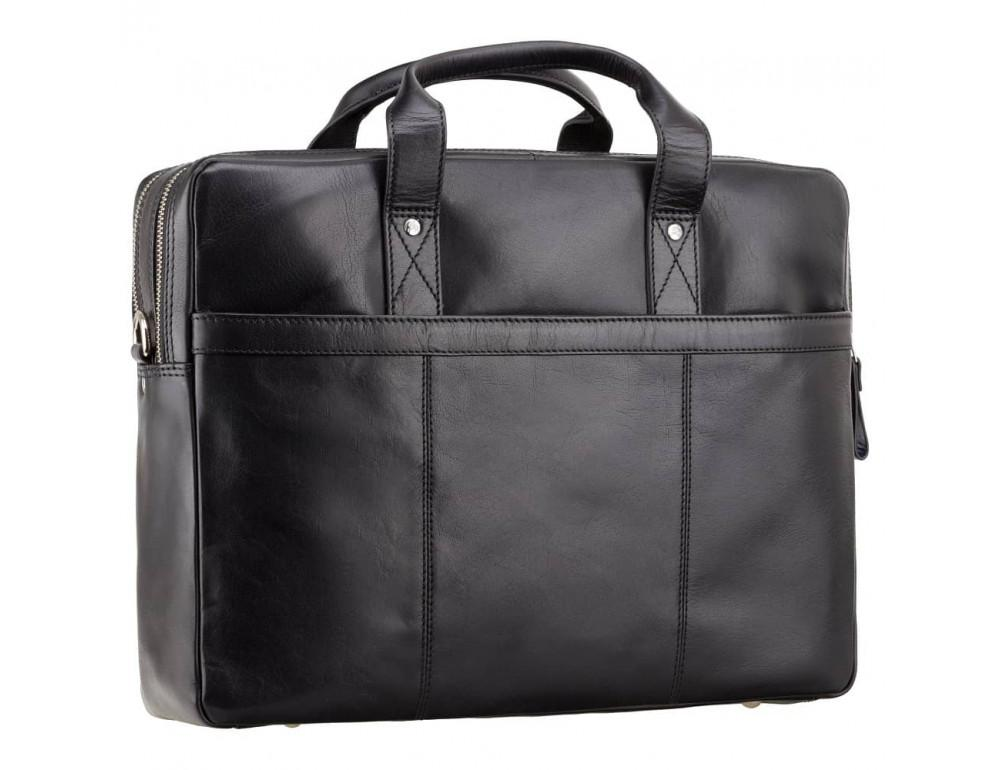 Чёрный кожаный портфель для мужчин Visconti ML24 BLK - Фото № 5