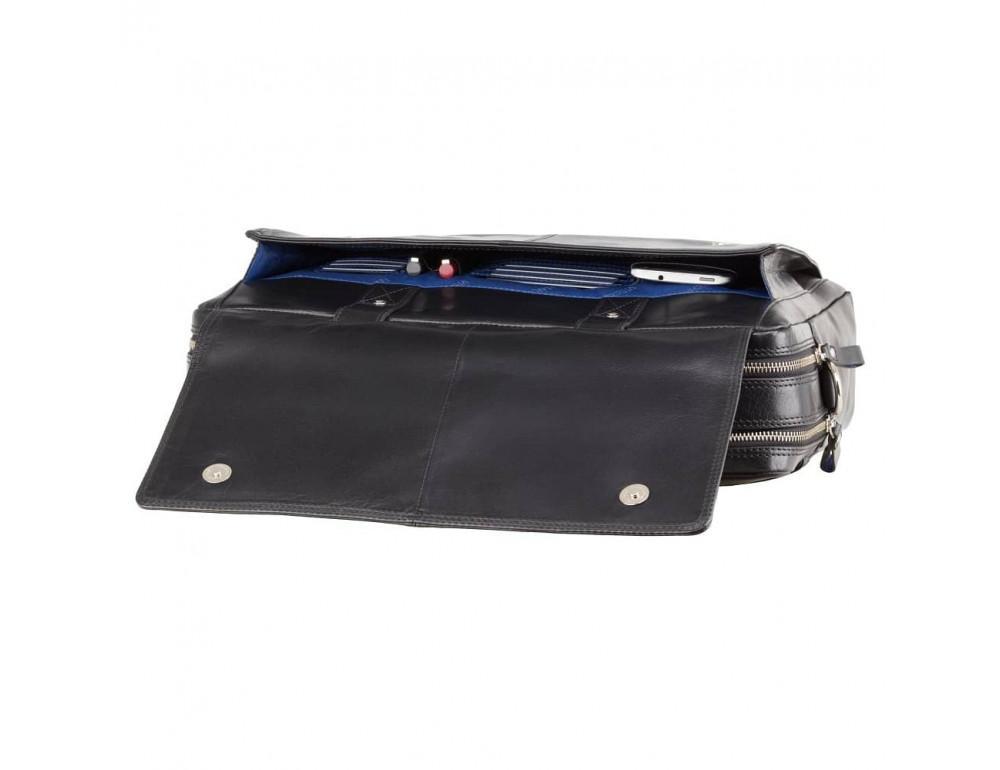 Чёрный кожаный портфель для мужчин Visconti ML24 BLK - Фото № 6