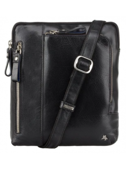 Чёрная сумка через плечо Visconti ML20 BLK Roy (black)