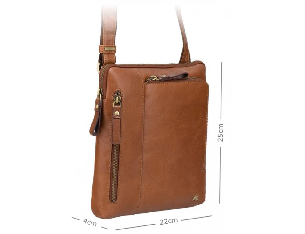 Светло-коричневая сумка через плечо Visconti ML20 TAN Roy (tan) - Фото № 3