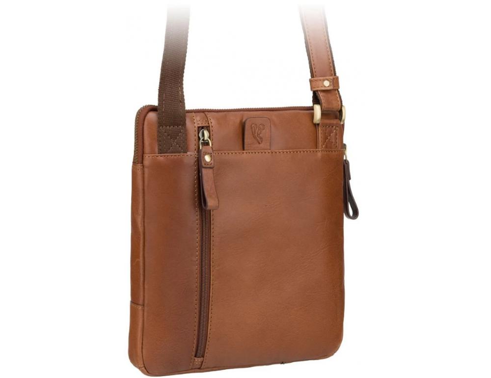 Светло-коричневая сумка через плечо Visconti ML20 TAN Roy (tan) - Фото № 5