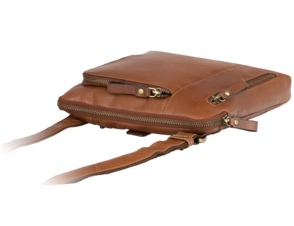 Светло-коричневая сумка через плечо Visconti ML20 TAN Roy (tan) - Фото № 6