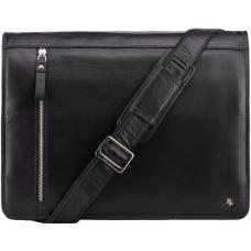 Чёрная мужская сумка через плечо Visconti ML23 BLK