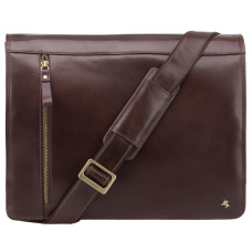 Коричнева шкіряна сумка через плече чоловіча Visconti ML23 BRN