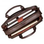 Коричневый кожаный портфель для мужчин Visconti ML24 BRN - Фото № 101