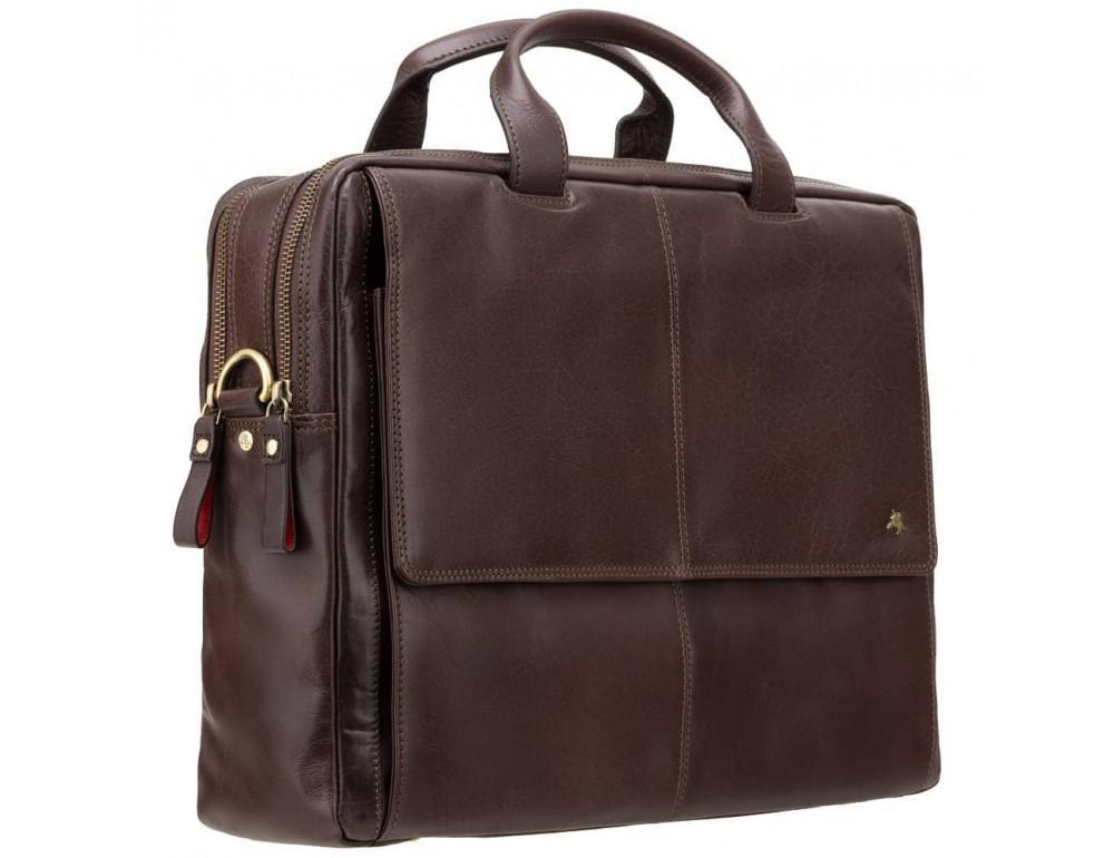 Коричневый кожаный портфель для мужчин Visconti ML24 BRN - Фото № 3