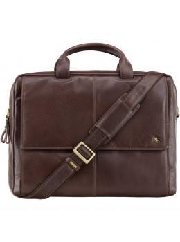 Коричневий шкіряний портфель для чоловіків Visconti ML24 BRN