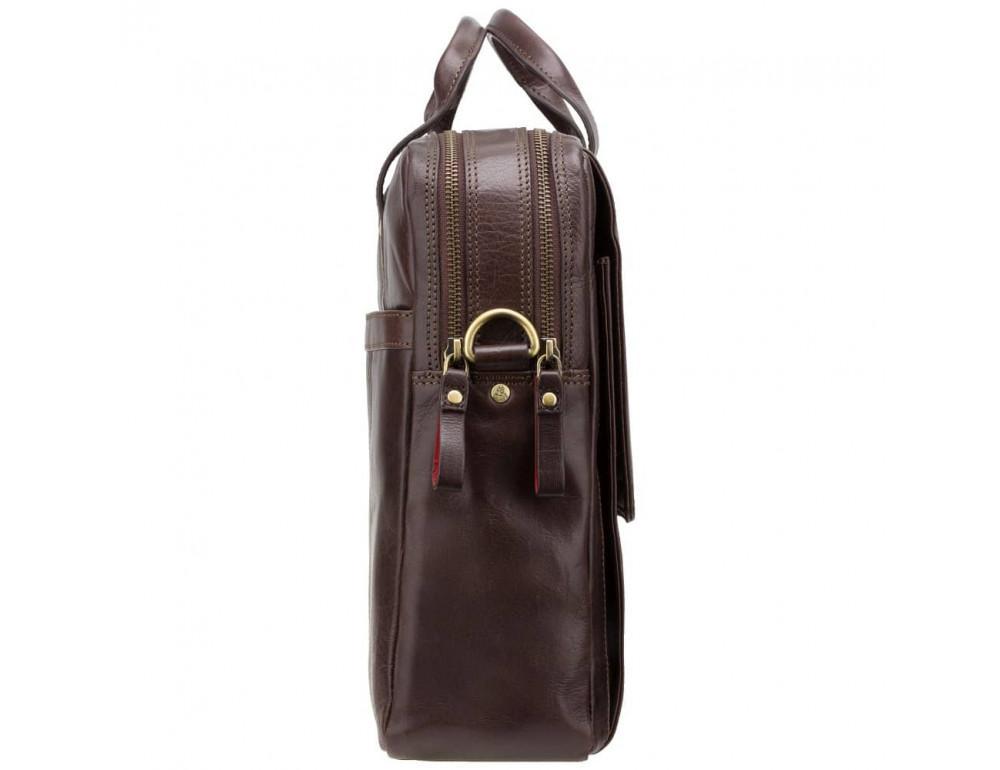 Коричневый кожаный портфель для мужчин Visconti ML24 BRN - Фото № 4