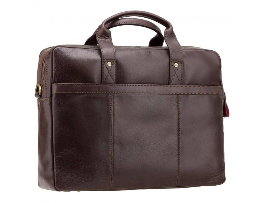 Коричневый кожаный портфель для мужчин Visconti ML24 BRN - Фото № 5