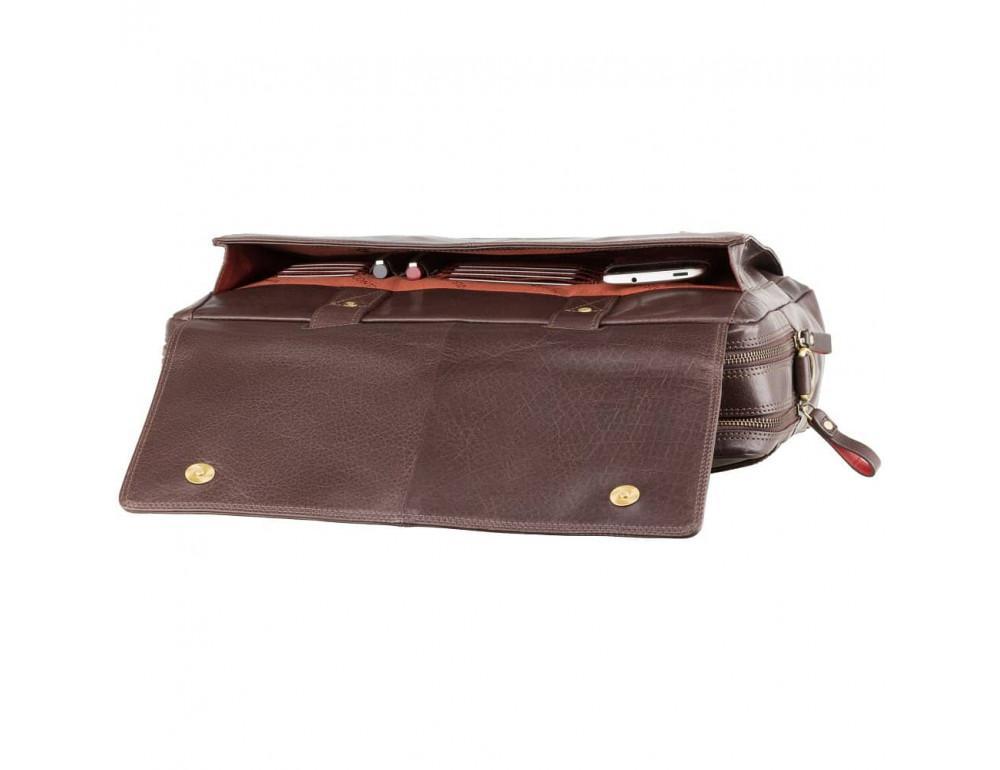 Коричневый кожаный портфель для мужчин Visconti ML24 BRN - Фото № 6