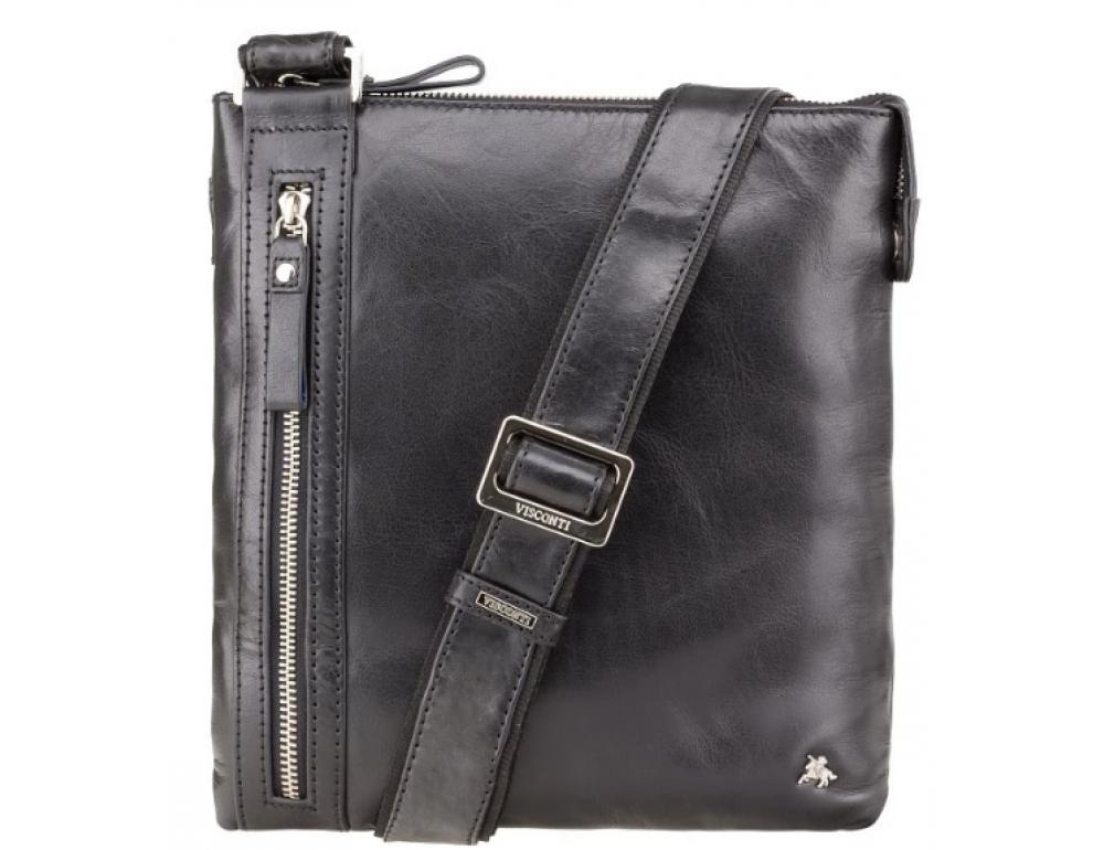Чёрная сумка через плечо Visconti ML25 BLK Taylor (Black) - Фото № 1