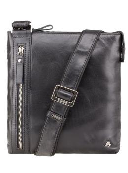 Чёрная сумка через плечо Visconti ML25 BLK Taylor (Black)