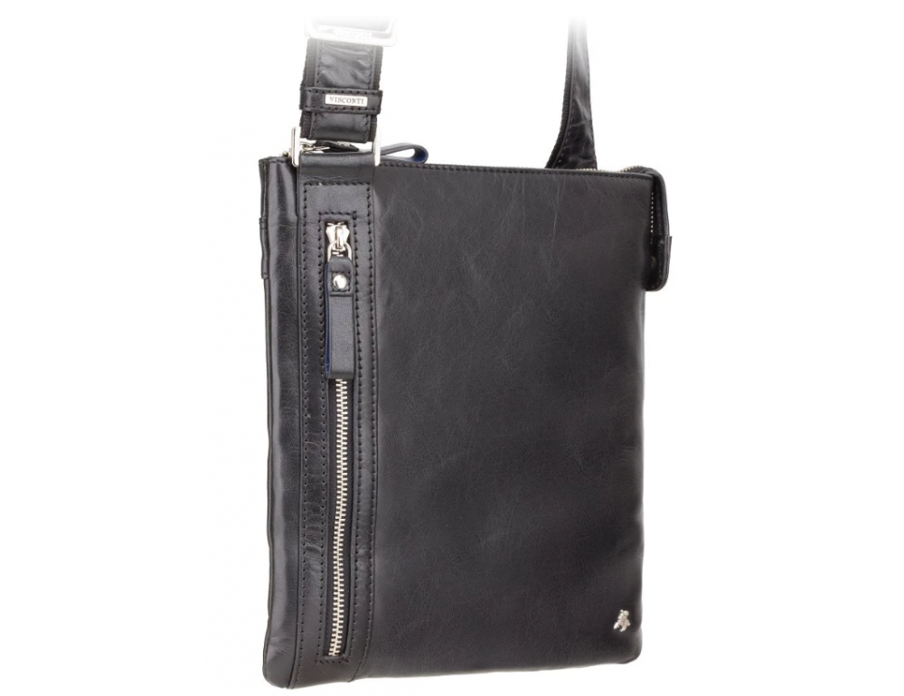 Чёрная сумка через плечо Visconti ML25 BLK Taylor (Black) - Фото № 3