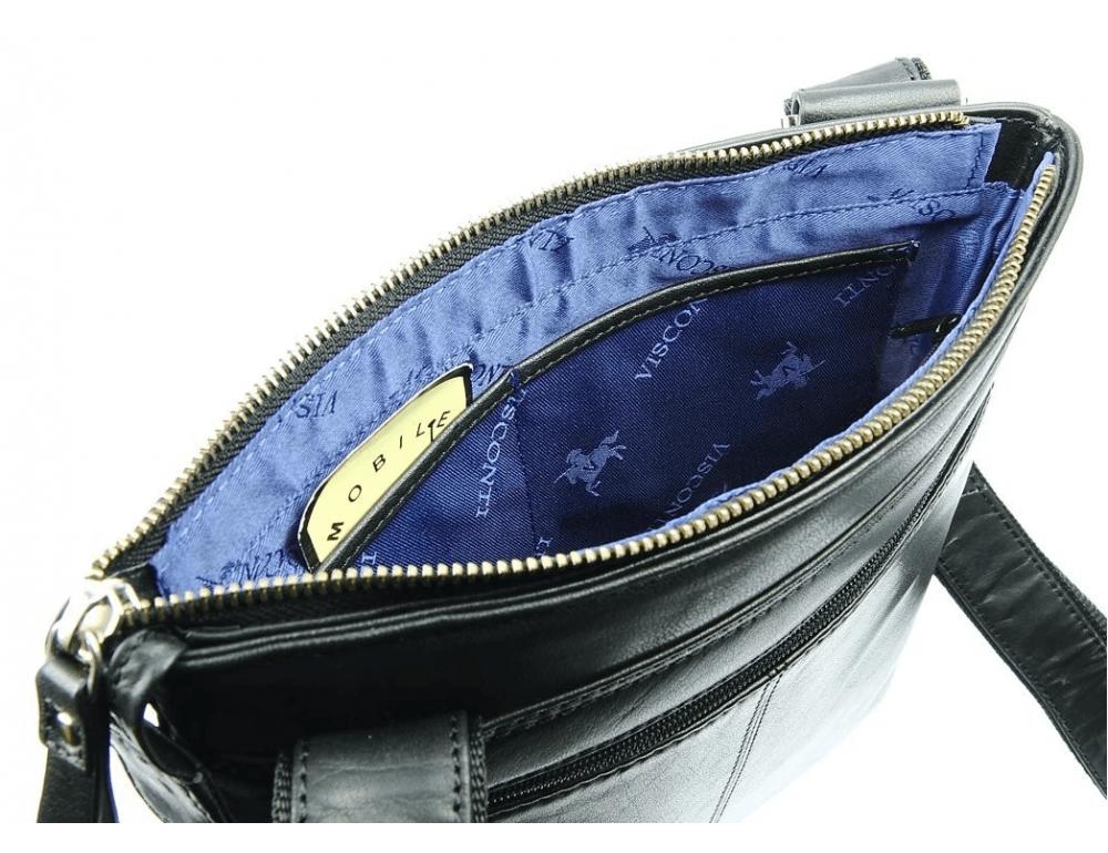 Чёрная сумка через плечо Visconti ML25 BLK Taylor (Black) - Фото № 6