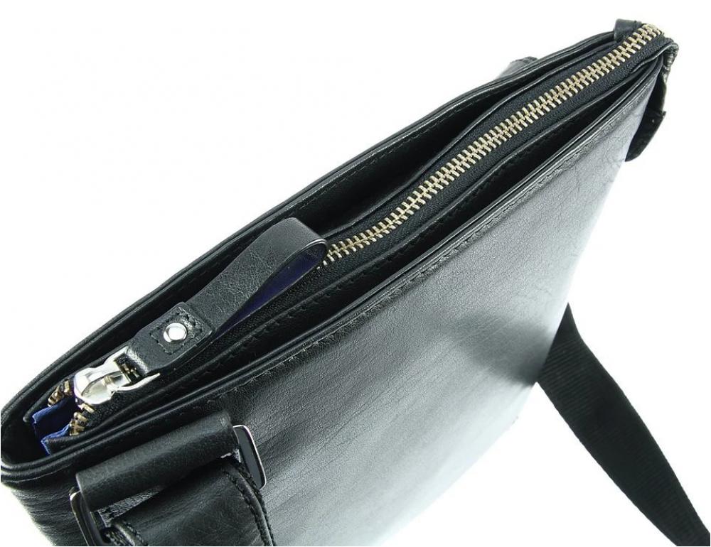 Чёрная сумка через плечо Visconti ML25 BLK Taylor (Black) - Фото № 10