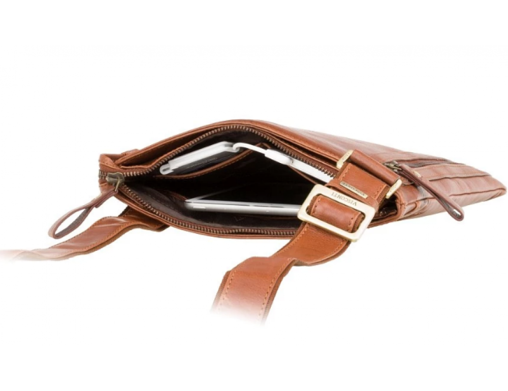 Коричневая сумка через плечо Visconti ML25 TAN Taylor (brown) - Фото № 3