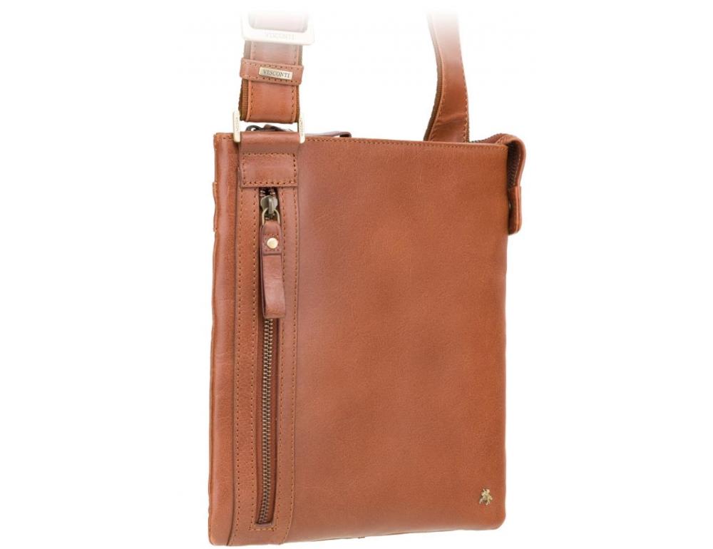 Коричневая сумка через плечо Visconti ML25 TAN Taylor (brown) - Фото № 5