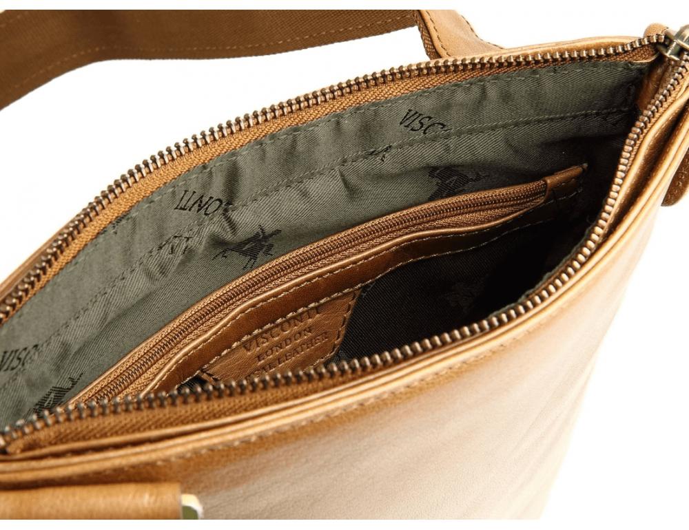 Коричневая сумка через плечо Visconti ML25 TAN Taylor (brown) - Фото № 6