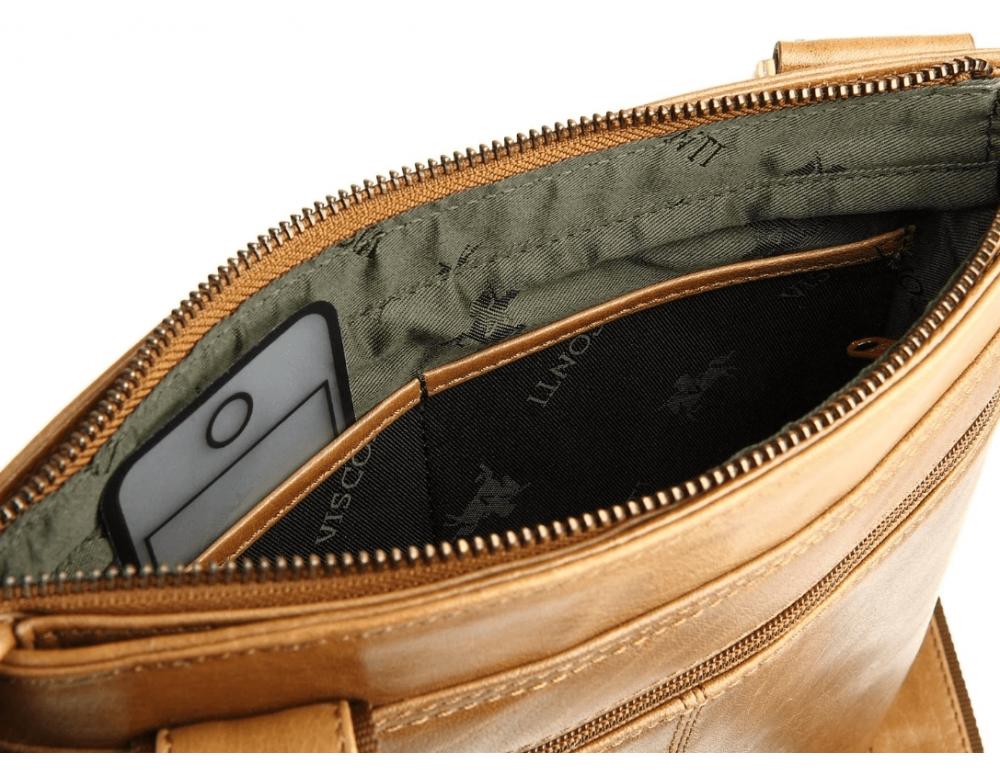 Коричневая сумка через плечо Visconti ML25 TAN Taylor (brown) - Фото № 7