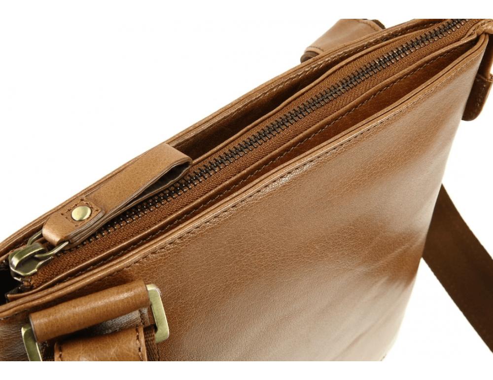 Коричневая сумка через плечо Visconti ML25 TAN Taylor (brown) - Фото № 8