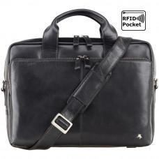 Чёрная сумка под macbook Visconti ML31 BLK Black