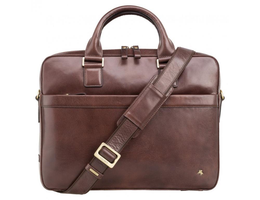 Коричневая сумка мужская Visconti ML34 BRN Victor - Фото № 1
