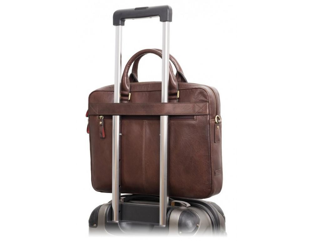 Коричневая сумка мужская Visconti ML34 BRN Victor - Фото № 7