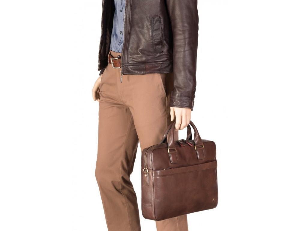 Коричневая сумка мужская Visconti ML34 BRN Victor - Фото № 8