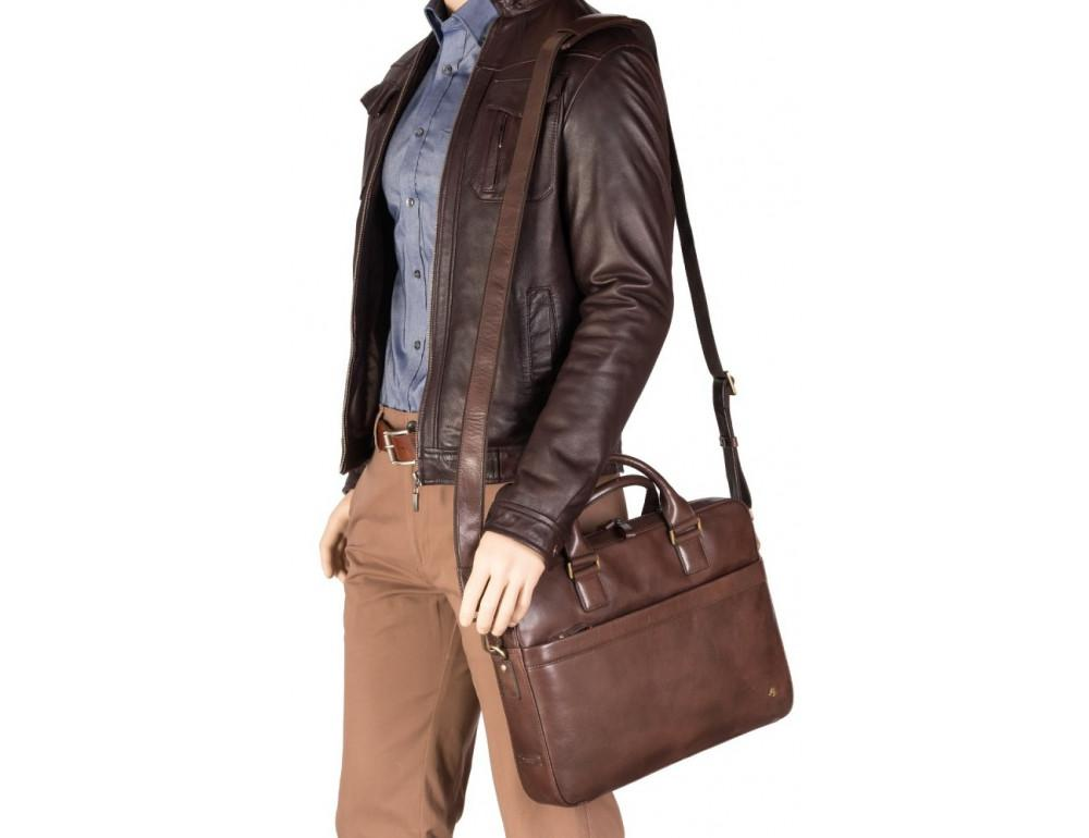Коричневая сумка мужская Visconti ML34 BRN Victor - Фото № 9