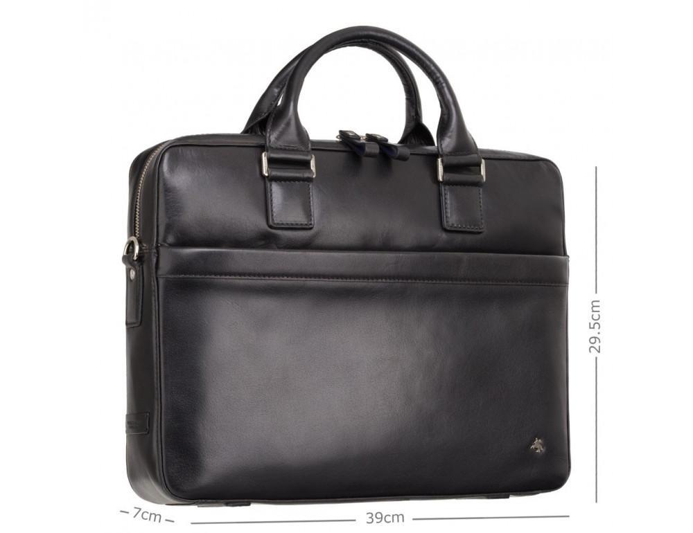 Чёрная сумка мужская Visconti ML34 BLK Victor - Фото № 2