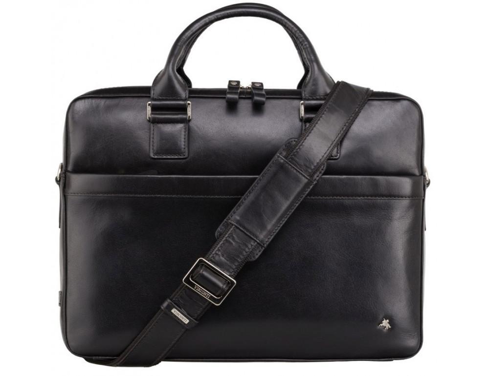 Чёрная сумка мужская Visconti ML34 BLK Victor - Фото № 1
