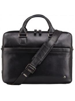 Чёрная сумка мужская Visconti ML34 BLK Victor