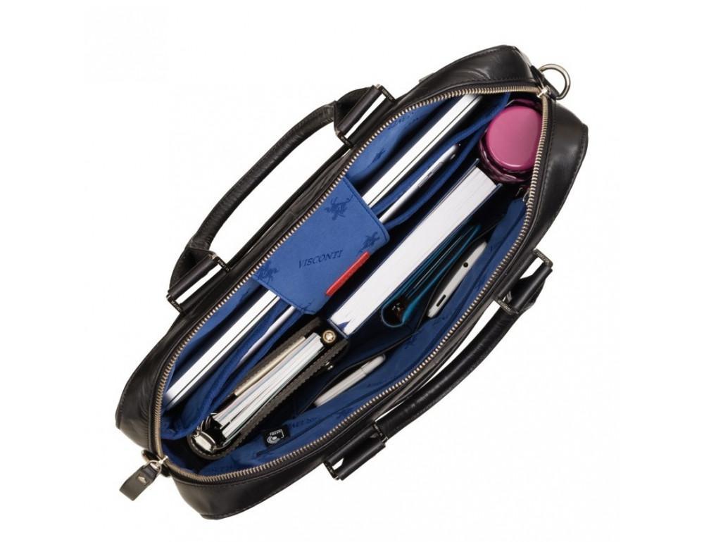 Чёрная сумка мужская Visconti ML34 BLK Victor - Фото № 6