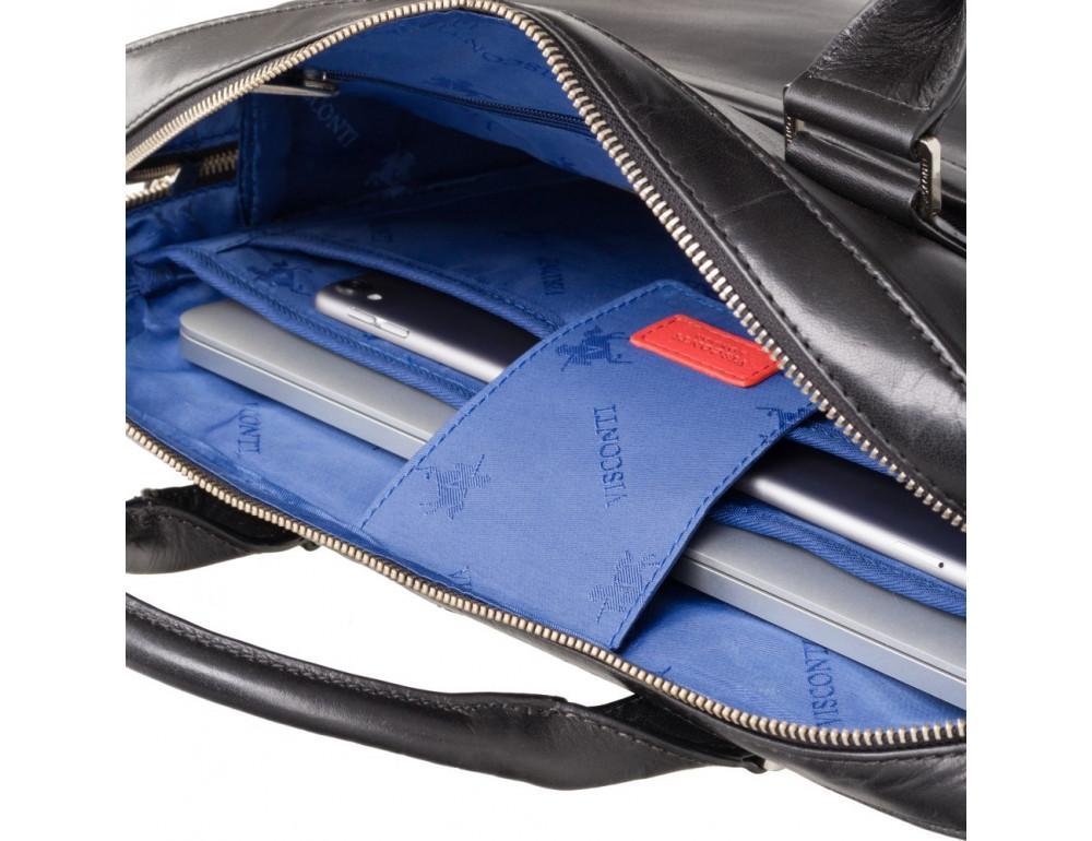 Чёрная сумка мужская Visconti ML34 BLK Victor - Фото № 7