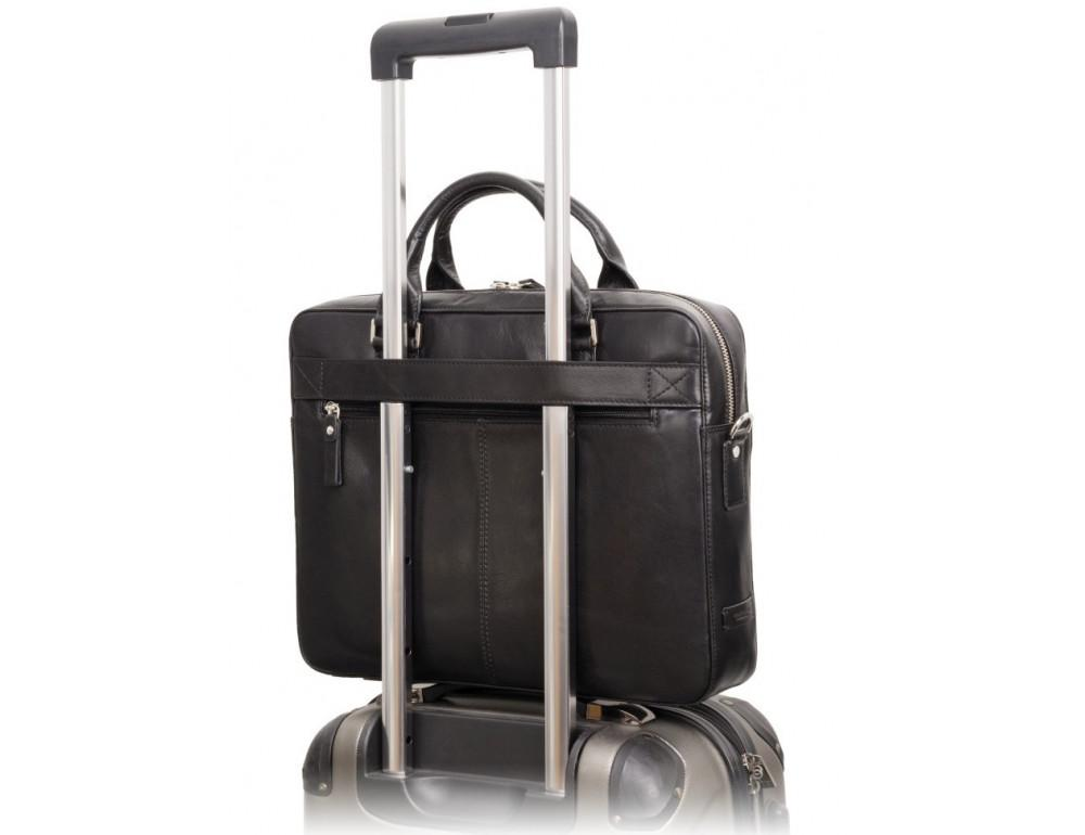 Чёрная сумка мужская Visconti ML34 BLK Victor - Фото № 9