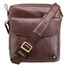 Коричневая мужская сумка на плечо Visconti ML36 BRN - Vesper A5