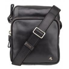 Чёрная мужская сумка из натуральной кожи Visconti ML40 BLK