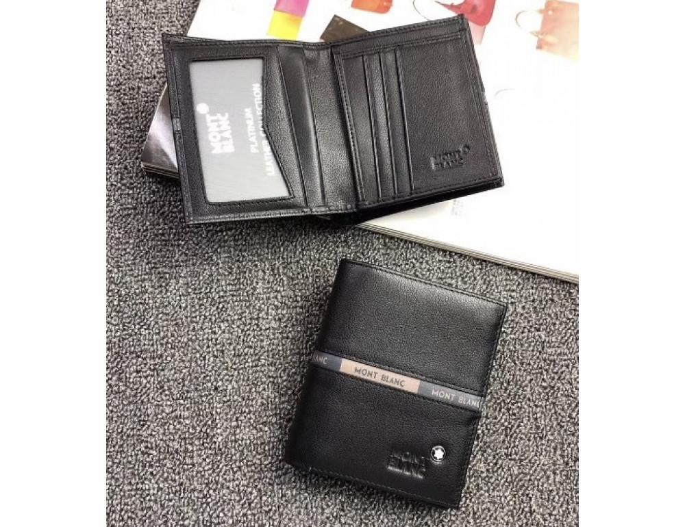 Черный вертикальный портмоне Montblanc MO-114565 - Фото № 2