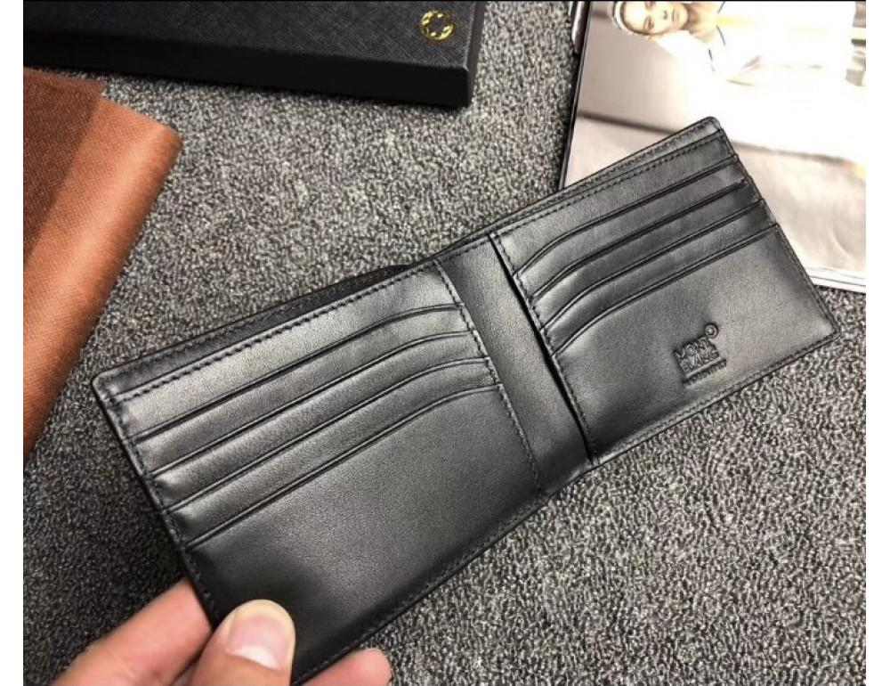 Чёрный кожаный портмоне Montblanc Meisters MO-20144 - Фото № 2
