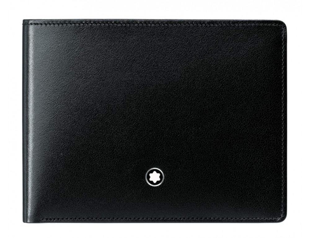 Чёрный кожаный портмоне Montblanc Meisters MO-20144 - Фото № 1