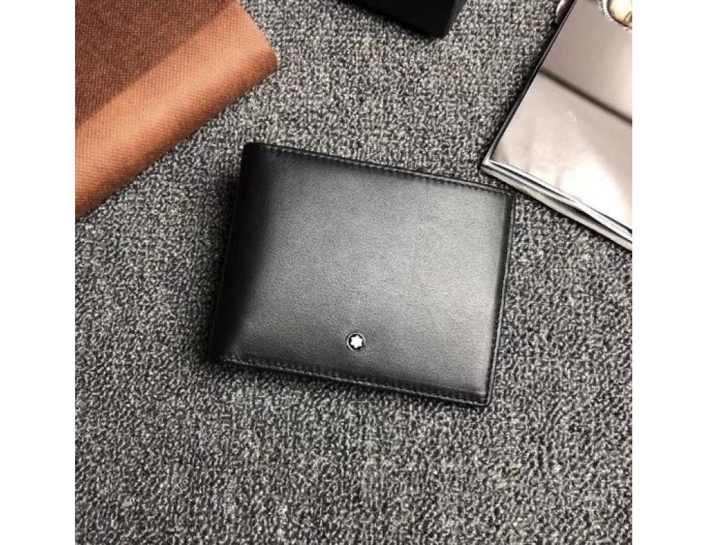 Чёрный кожаный портмоне Montblanc Meisters MO-20144 - Фото № 3